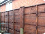 5ft waneylap panels in 3ft fence posts with 2ft fence post extensions.
